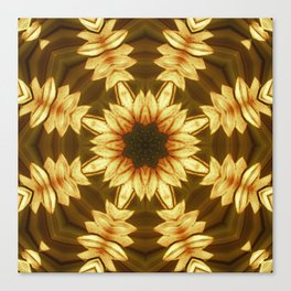 Kaleidoscope Sunflower Design Print Canvas Print