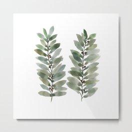 Watercolor Leaves/Nature/Minimal Leaves Metal Print