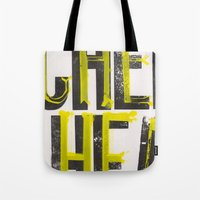 wisconsin Tote Bags featuring Notorious Wisconsin by Abby Hoffman