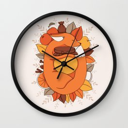 Fox Apple Sauce Wall Clock