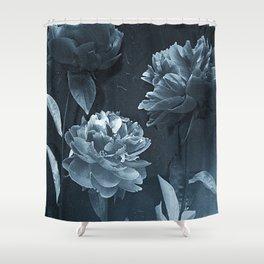 Blue Peonies Shower Curtain