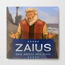 MAKE AMERICA APES AGAIN - DR. ZAIUS and TRUMP MASHUP Metal Print