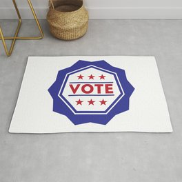 Vote American Presidential Election Badge Rug