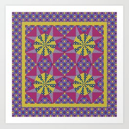 Any Day Geo Quilt Art Print