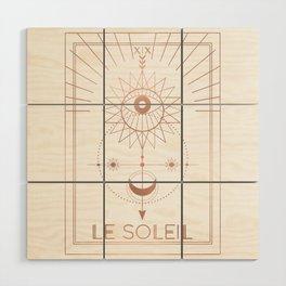 Le Soleil or The Sun Tarot White Edition Wood Wall Art