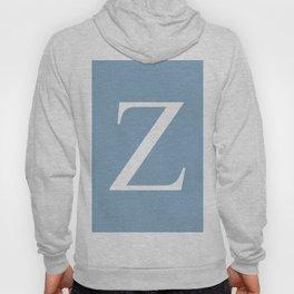 Letter Z sign on placid blue background Hoody
