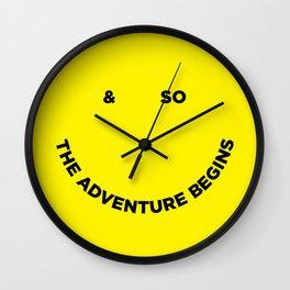 & So the Adventure Begins Wall Clock