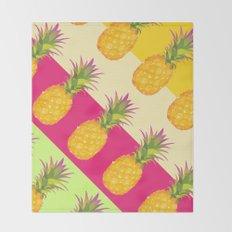 Tropical Pineapples Throw Blanket