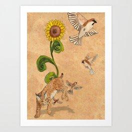 Bobcats & Beeswax Art Print