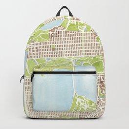 San Francisco CA City Map  Backpack