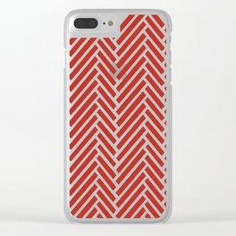 Herringbone Candy Clear iPhone Case