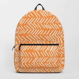 Sherbet Herringbone Lines Backpack