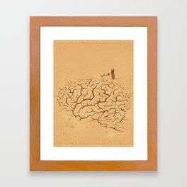Dry Brain Framed Art Print