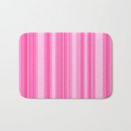 Pink Candy Stripe Bath Mat