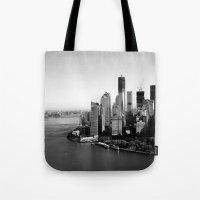 manhattan Tote Bags featuring Manhattan  by Zakvdboom Designs