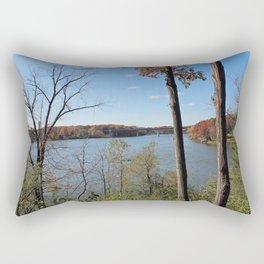 View of the Highway Bridge Rectangular Pillow