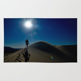 Walking on sand dunes Rug