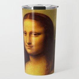 Leonardo Da Vinci Mona Lisa Painting Travel Mug