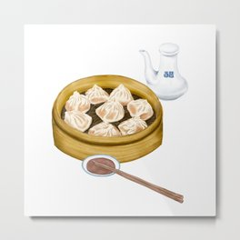 Dim Sum | XiaoLongBao | 小笼包 Metal Print