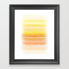 Triangle Gradient Gold Mix Framed Art Print