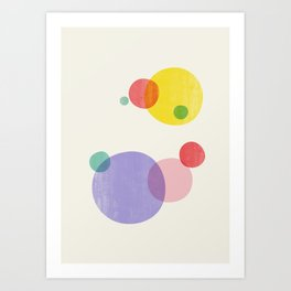 Rainbow Bubbles II Art Print