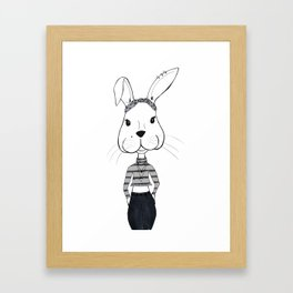 Kitsch Bunny Framed Art Print