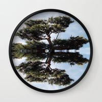 meditation Wall Clocks featuring Meditation by Augustine