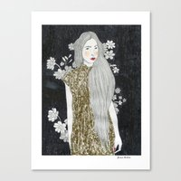 gold glitter Canvas Prints featuring Gold Glitter  by Juana Andres