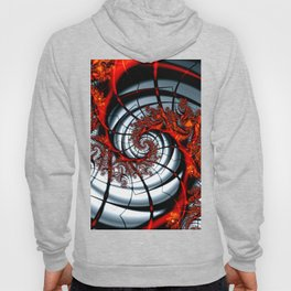 Fractal Art - Burning Web Hoody