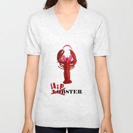 Lobster hipster Unisex V-Neck
