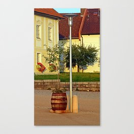Tree in apple wine barrel | conceptual photography Canvas Print