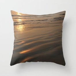 Swimming at Sunset Palolem Throw Pillow