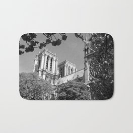 Notre Dame in Spingtime Bath Mat