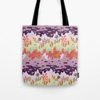 crystal Tote Bags featuring Crystal Forest by LordofMasks