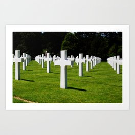 Normandy Cemetery Perspective Art Print