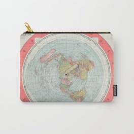 Flat Earth Society Wall Map Carry-All Pouch