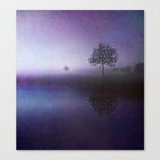 SOLITUDE IN TIME - PURPLE Canvas Print
