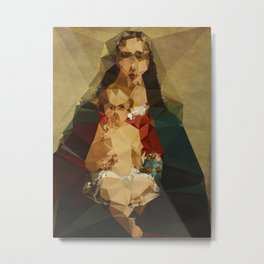 Annonymous Mother - Kubistika by Boris Draschoff Metal Print