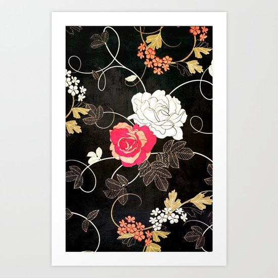 VINTAGE FLOWERS VII - for iphone Art Print