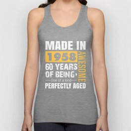 Made in 1958 - Perfectly aged Unisex Tank Top