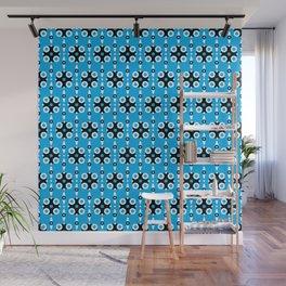 Funky Geo Modern / Blue Geometric Modern Pattern Wall Mural