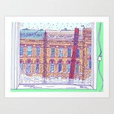 Snow Day in Queens Art Print