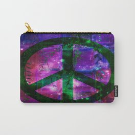 Peace symbol and infused colors Carry-All Pouch