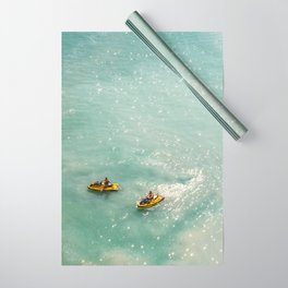 Jet Ski Friends in the Ocean   Paradise   Beach Mood   Aerial Photography   Ocean Print Wrapping Paper
