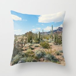 Desert Plant Growth Throw Pillow