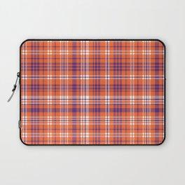 Varsity plaid purple orange and white clemson sports college football universities Laptop Sleeve