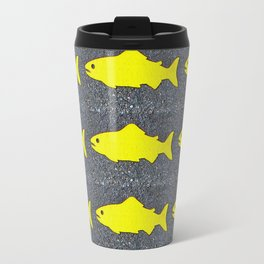 Yellow Fish  Travel Mug