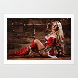 Christmas Babe - Fine Art of Bondage Art Print