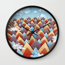 Abstract Adventurous Mountain Art Wall Clock