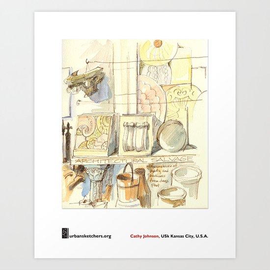 "Cathy Johnson, ""Architectural Salvage"" Art Print"